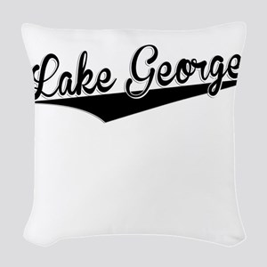 Lake George, Retro, Woven Throw Pillow