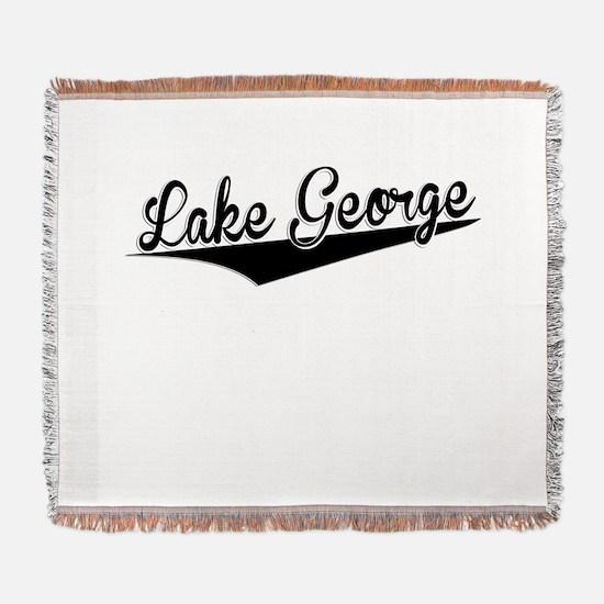 Lake George, Retro, Woven Blanket
