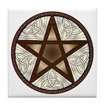 Celtic Pentagram - 1 - Tile Coaster