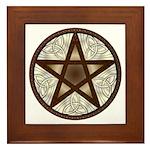 Celtic Pentagram - 1 - Framed Tile