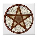 Celtic Pentagram - 7 - Tile Coaster