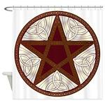 Celtic Pentagram - 11 - Shower Curtain