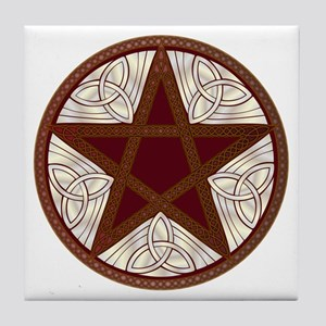Celtic Pentagram - 11 - Tile Coaster
