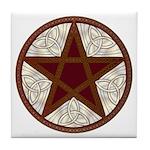 Celtic Pentagram - 11 - Tile Coaster