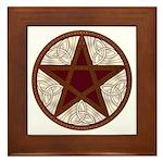 Celtic Pentagram - 11 - Framed Tile
