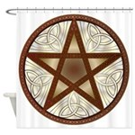 Celtic Pentagram - 6 - Shower Curtain