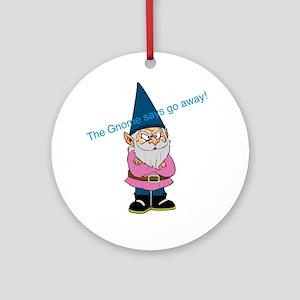 Mad gnome Round Ornament