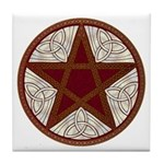 Celtic Pentagram - 5 - Tile Coaster