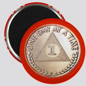 AA One Year Chip Magnet