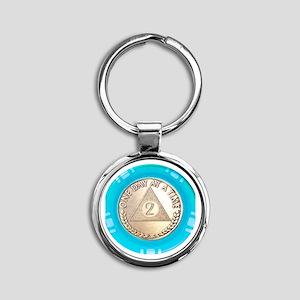 AA 2 Year Chip Alternative Round Keychain