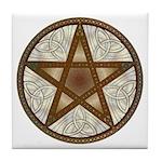 Celtic Pentagram - 8 - Tile Coaster