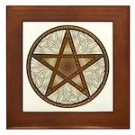 Celtic Pentagram - 8 - Framed Tile