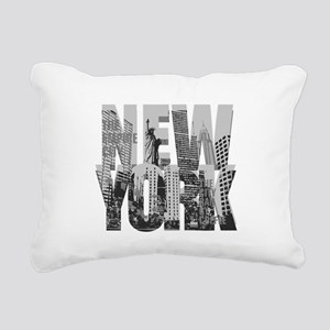 NEW YORK Rectangular Canvas Pillow