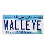 Minnesota Walleye License Postcards (package Of 8)