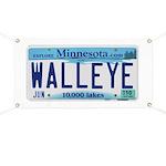 Minnesota Walleye License Plate Banner