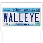 Minnesota Walleye License Plate Yard Sign