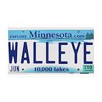 Minnesota Walleye License Plate Wall Decal