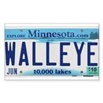 Minnesota Walleye License Plate Sticker