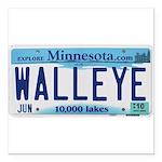 "Minnesota Walleye Square Car Magnet 3"" X 3&qu"