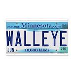 Minnesota Walleye License Plate Rectangle Car Magn