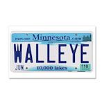 Minnesota Walleye License Plate Car Magnet 20 x 12