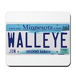 Minnesota Walleye License Plate Mousepad