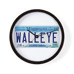 Minnesota Walleye License Plate Wall Clock