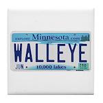 Minnesota Walleye License Plate Tile Coaster