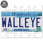 Minnesota Walleye License Plate Puzzle