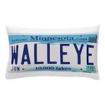Minnesota Walleye License Plate Pillow Case