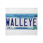 Minnesota Walleye License Plate Throw Blanket