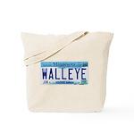 Minnesota Walleye License Plate Tote Bag