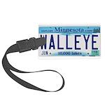 Minnesota Walleye License Plate Luggage Tag