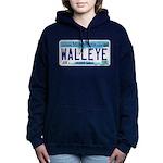 Minnesota Walleye License Plate Women's Hooded Swe