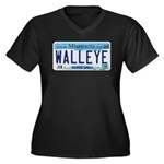 Minnesota Walleye License Plate Plus Size T-Shirt