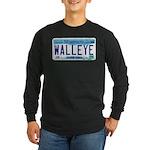 Minnesota Walleye License Plate Long Sleeve T-Shir