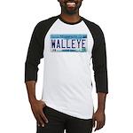 Minnesota Walleye License Plate Baseball Jersey