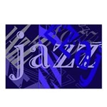 Jazz Blue on Blue Postcards (Package of 8)