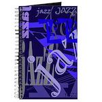 Jazz Blue on Blue Journal