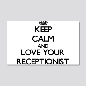 Keep Calm and Love your Receptionist Wall Decal