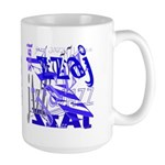 Jazz Blue on Blue Large Mug