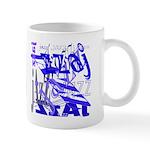 Jazz Blue on Blue Mug
