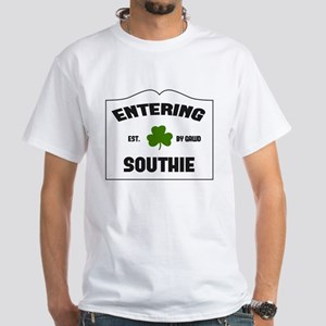 Entering Southie White T-Shirt