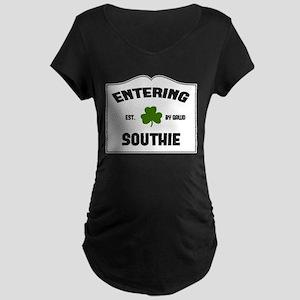 Entering Southie Maternity Dark T-Shirt