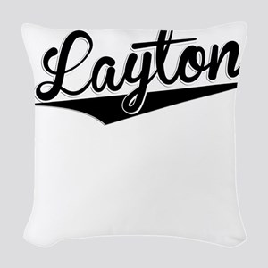 Layton, Retro, Woven Throw Pillow