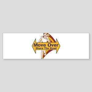 Move Over For Joggers Bumper Sticker