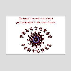 Impair Judgement (Red) Mini Poster Print