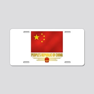Peoples Republic of China Flag Aluminum License Pl