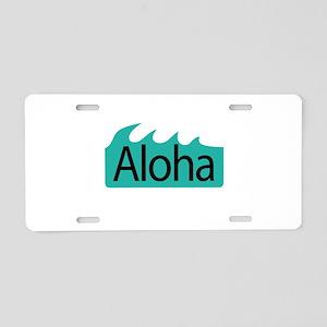 Aloha Waves Aluminum License Plate