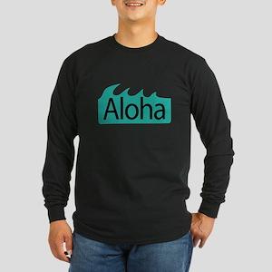 Aloha Waves Long Sleeve Dark T-Shirt